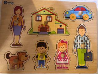 Puzzle bebe encajable madera