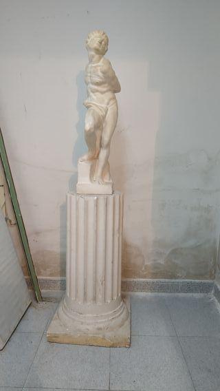Miguel Angel - Esclavo rebelde escultura realizada