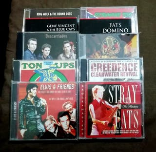 Lote 10 CD Elvis Presley Stray Cats Rockabilly