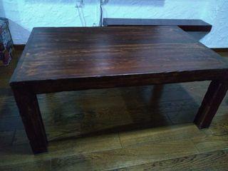Mesa madera maciza salón.