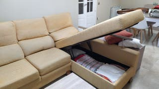 Sofa Chaise Longue. Rinconera.Arcon.Extensible