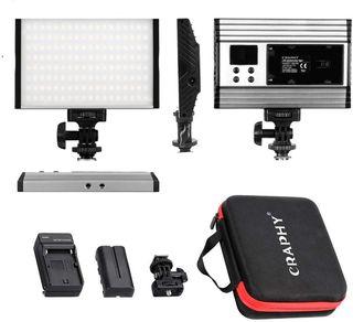 Luz de Video con Pantalla LCD, Batería de Li-Ion