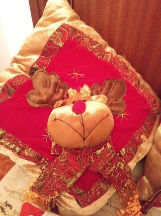 lote 5 cojines navideños