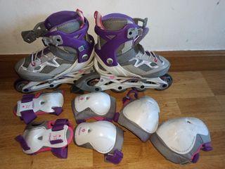 patines en línea oxylane ajustables n°29 - 32