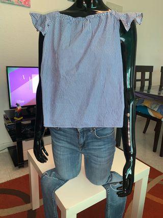 Camiseta zara a rallas talla s