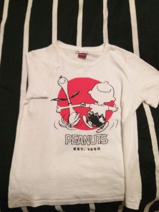 Camiseta Snoopy de Zara, talla S