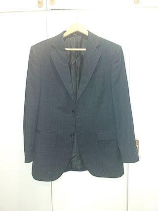 chaqueta de hombre azul marina de caramelo
