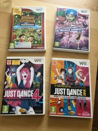 4 juegos de Wii