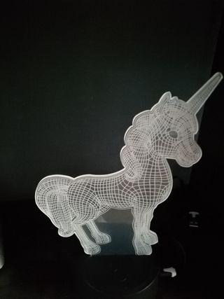 lámpara led de unicornio