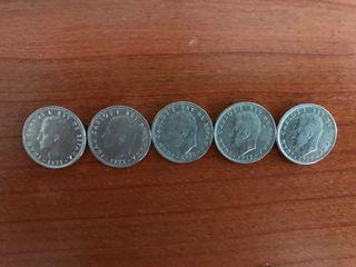 5 Monedas de 5 pesetas