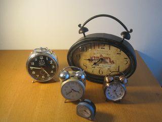 LOTE: 5 despertadores antiguos