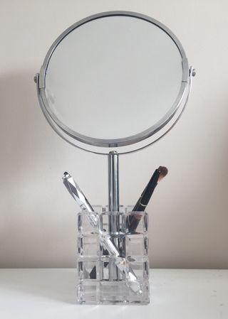 Espejo de tocador de mesa