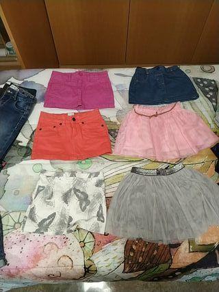 lote de 6 faldas niña 4-5