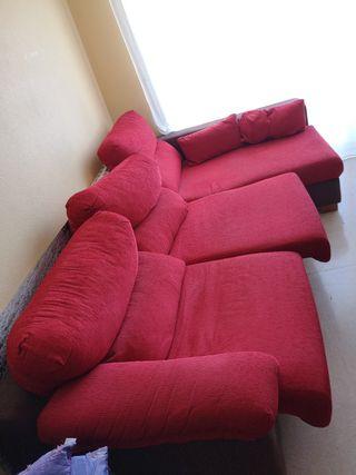 sofá - cama rinconero 3 plazas, con 2 cojines