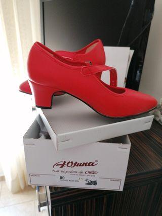 zapatos de flamenco talla 34