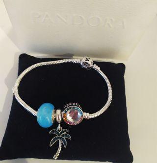 Pulsera estilo Pandora + charms