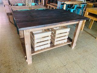 Isla de cocina madera palets