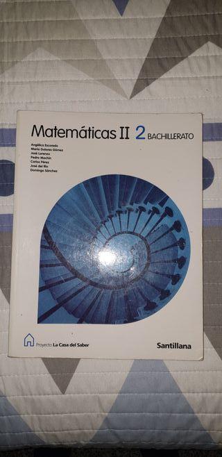Libro de matemáticas 2º Bachillerato