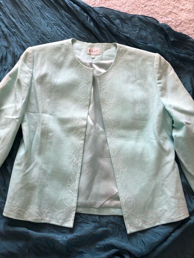 Traje/mujer/lino (falda*blazer) East