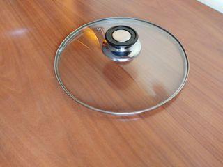 Tapa de sartén/olla. De cristal. Tamaño: 23.5 cm