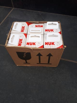 5 biberones nuk nuevos de 0/6 meces