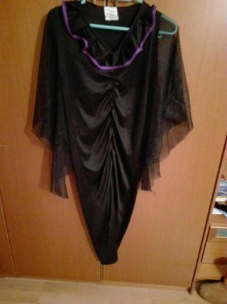 disfraz de niña de bruja talla 10-12 años.