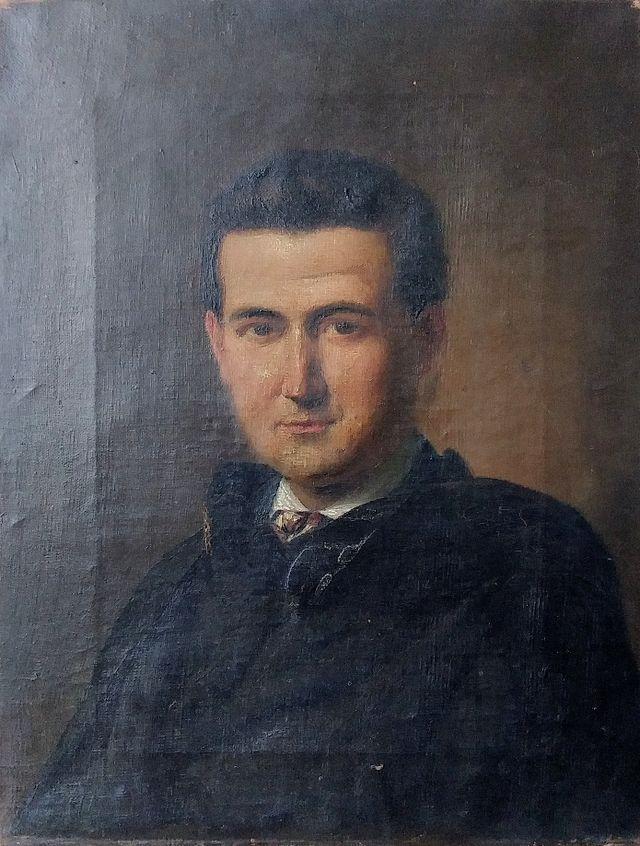 Pintura antigua al óleo S.XIX retrato