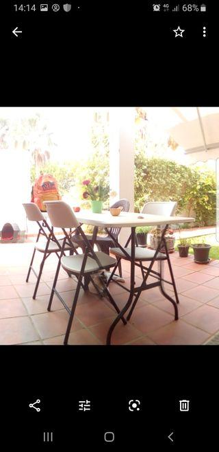 Muebles de jardin, toldo, mesa con sillas