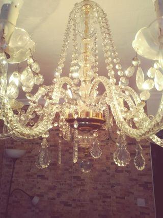 antigua lámpara de cristal