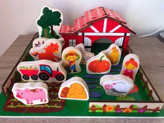 Juguete de madera, granja, animales