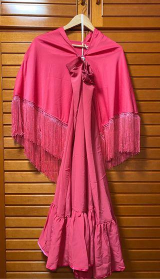 Conjunto flamenco falda y mantón sevillanas