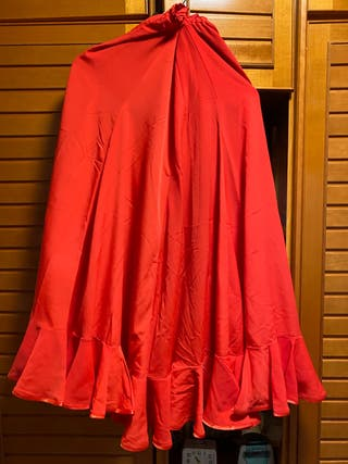 Falda flamenca sevillanas roja