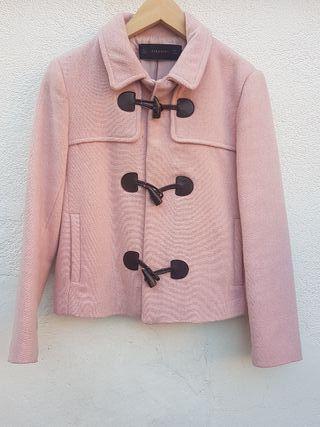Zara abrigo rosa palo