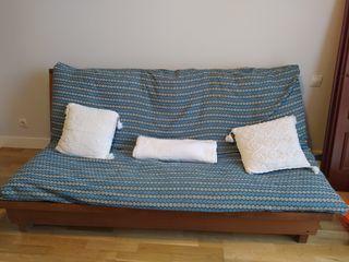 Sofa-Cama de madera + futon