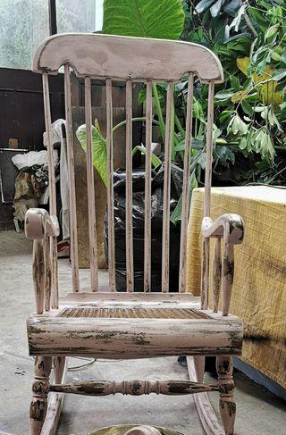 Mecedora antigua silla sillon