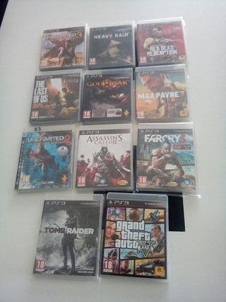 11 juegos PS3 50 EUROS
