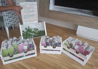 Cajas decorativas, cestas mimbre, Boda
