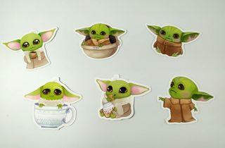 Pegatinas de Baby Yoda