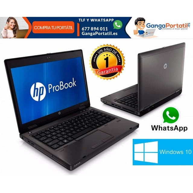 Portátil Hp ProBook 6470b, i3 / 500Gb / Cam / 8Gb