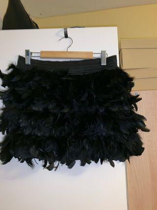 Falda plumas talla S