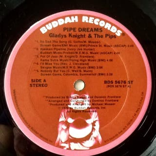 """GLADYS KNIGHT & THE PIPS """"BSO PIPE DREAMS"""" LP"""
