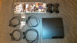 PS3 + 2 Mandos + 9 Juegos + etc