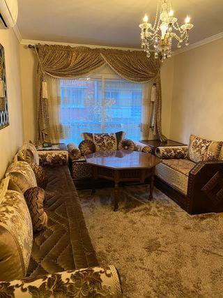 Salon arabe y alfombra