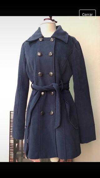 Abrigo paño azul