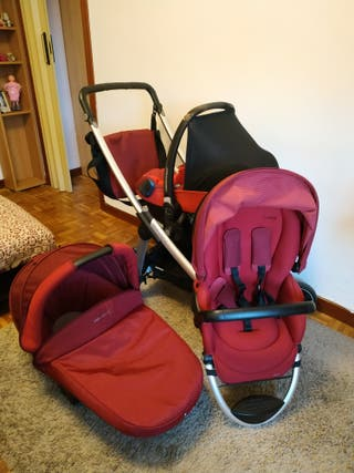 trio carrito bebé CAPAZO+SILLA DE PASEO+MAXICOSI