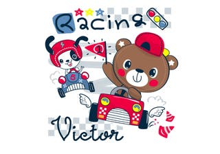 Cuadro Iroa Personalizable Racing 001-ANTENCION¡¡N