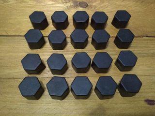 20 Tapones de silicona tornillos ruedas