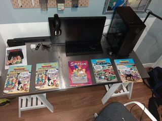 4 comics mortadelo y filemón y uno de los simpsons