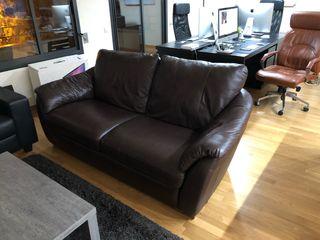 Sofa de piel real marca IKEA