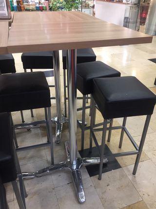 Mesa alta ideal para cafetería/bar